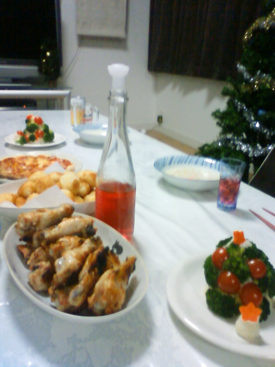 クリスマスパーティー晩ごはん♪